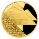2021 - Zlatá mince 5 NZD Egyptské pyramidy - Sedm divů světa