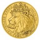 2021 - Zlatá mince 250 NZD Český lev - 5 Oz