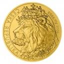 2021 - Zlatá mince 500 NZD Český lev - 10 Oz