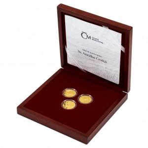 2021 - Sada 3 zlatých mincí 10 NZD Sv. Anežka Česká