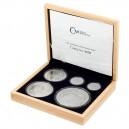 2021 - Sada stříbrných mincí Český Lev - 1oz, 2 oz, 5 oz, 10 oz, 1 kg