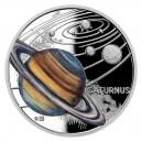 2021 - Stříbrná mince Saturn - Sluneční soustava 1 NZD