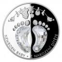 2021 - Stříbrná mince K narození dítěte - Crystal Coin 2 NZD