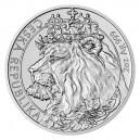 2021 - Stříbrná mince Český lev 5 NZD - 2 Oz
