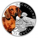 2021 - Stříbrná mince Jezevčík - Psí plemena 1 NZD