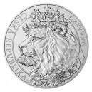 2021 - Stříbrná mince Český lev 80 NZD - 1 kg