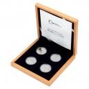 2021 - Sada 4 stříbrných mincí 1 NZD Bazilika sv. Petra ve Vatikánu