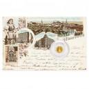 2021 - Zlatá mince 5 NZD Sloup Nejsvětější trojice - Olomouc - Dobové pohlednice