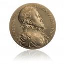 Pamětní mosazná medaile Rudolf II.