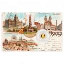 2021 - Zlatá mince 5 NZD Týnský chrám - Praha - Dobové pohlednice