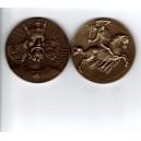 Pamětní mosazná medaile Jan Lucemburský