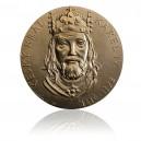 Pamětní mosazná medaile Karel IV.