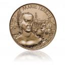 Pamětní mosazná medaile Marie Terezie