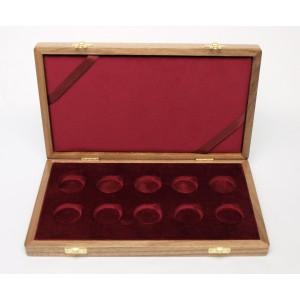 Dřevěná etue na 10 ks zlatých mincí Kulturní památky technického dědictví