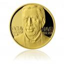 """2012 - Zlatá pamětní medaile """"Václav Havel"""" číslováno - Au 1/2 Oz"""