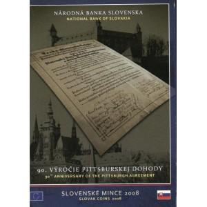 Sada oběžných mincí Slovenské republiky 2008 - 90. výročí Pittsburské dohody