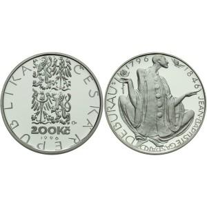 Pamětní stříbrná mince Jean-Baptiste Gaspard Deburau - b.k.