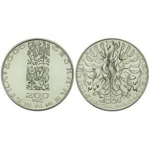 Pamětní stříbrná mince Počátek nového tisíciletí - b.k.