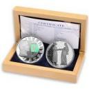 Sada české a lucemburské stříbrné pamětní mince k 700. výročí sňatku Jana Lucemburského s Eliskou Přemyslovnou