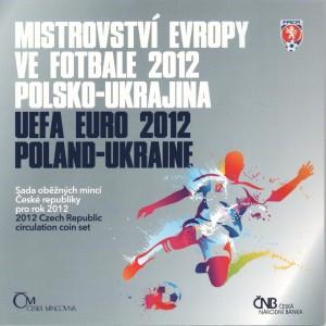 Sada oběžných mincí České republiky 2012 - ME ve fotbale