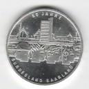 Stříbrná pamětní mince Spolková země Saarland (Sársko) 2007, b.k.
