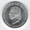 Stříbrná pamětní mince Robert Schumann 2010, b.k.