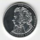 Stříbrná pamětní mince Wolfgang Amadeus Mozart 2006, b.k.