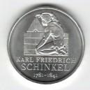 Stříbrná pamětní mince Karl Friedrich Schinkel 2006, b.k.