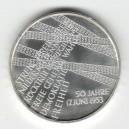 Stříbrná pamětní mince 17. červen 1953 2003, b.k.