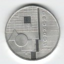 Stříbrná pamětní mince Bauhaus Dessau 2004, b.k.