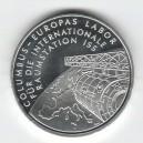 Stříbrná pamětní mince Columbus - Evropská laboratoř 2004, b.k.