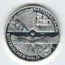 Stříbrná pamětní mince Národní park Bayerischer Wald 2005, b.k.