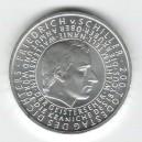 Stříbrná pamětní mince Friedrich Schiller 2005, b.k.
