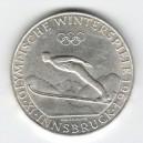 Stříbrná pamětní mince IX. zimní olympijské hry Innsbruck 1964, b.k.