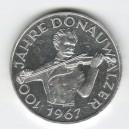 """Stříbrná pamětní mince Valčík """"Na krásném modrém Dunaji"""" 1967, Proof"""