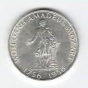 Stříbrná pamětní mince Wolfgang Amadeus Mozart 1956, b.k.
