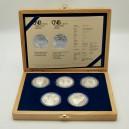 Kompletní sada stříbrných pamětních mincí ČNB roku 2006, Proof