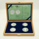 Kompletní sada stříbrných pamětních mincí ČNB roku 2007, Proof
