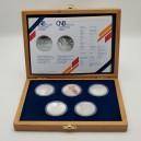 Kompletní sada stříbrných pamětních mincí ČNB roku 2009, Proof