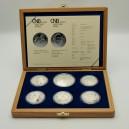 Kompletní sada stříbrných pamětních mincí ČNB roku 2012, Proof