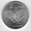 Stříbrná pamětní mince LOH Montreal 1976 - Hod oštěpem, b.k. - rok 1975