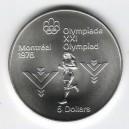 Stříbrná pamětní mince LOH Montreal 1976 - Marathon, b.k. - rok 1975