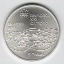 Stříbrná pamětní mince LOH Montreal 1976 - Plavání, b.k. - rok 1975