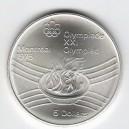 Stříbrná pamětní mince LOH Montreal 1976 - Olympijský oheň, b.k. - rok 1974