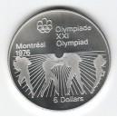 Stříbrná pamětní mince LOH Montreal 1976 - Box, b.k. - rok 1976