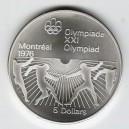 Stříbrná pamětní mince LOH Montreal 1976 - Šerm, b.k. - rok 1976