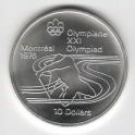 Stříbrná pamětní mince LOH Montreal 1976 - Kanoistika, b.k. - rok 1975