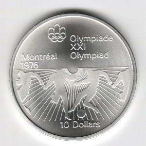 Stříbrná pamětní mince LOH Montreal 1976 - Fotbal, b.k. - rok 1976