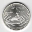 Stříbrná pamětní mince LOH Montreal 1976 - Olympijský stadion, b.k. - rok 1976