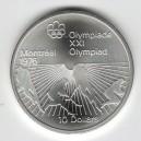 Stříbrná pamětní mince LOH Montreal 1976 - Pozemní hokej, b.k. - rok 1976